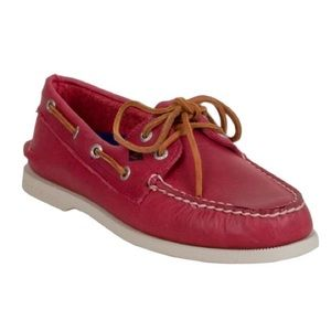Red Leather Men's Sperry's